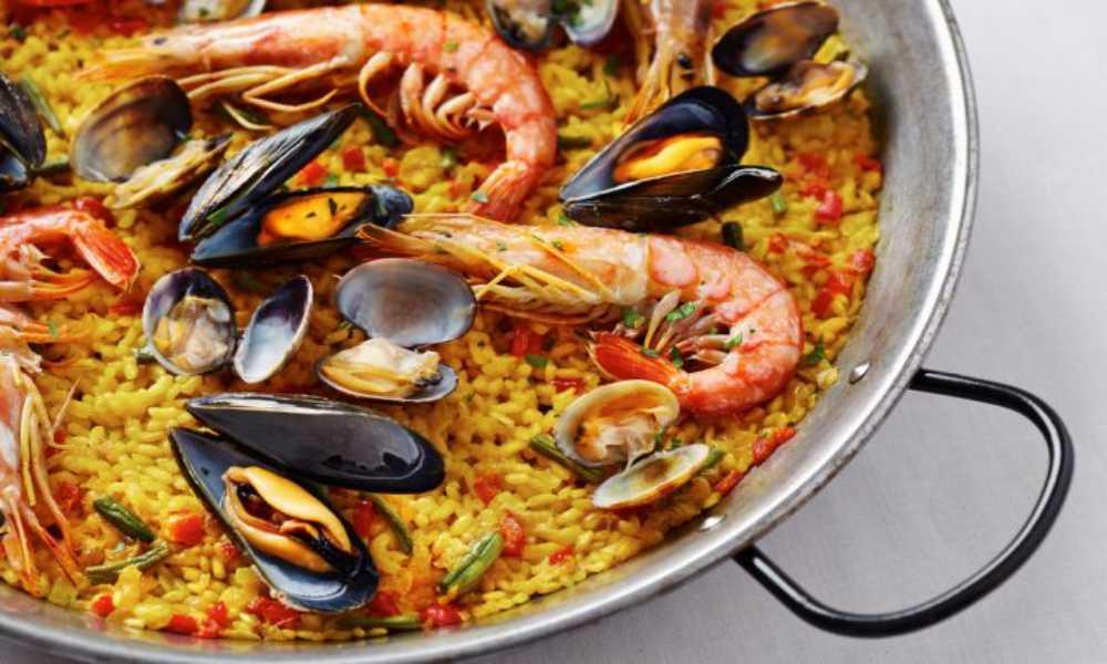 arroz de marisco gallego en resturante salamar en madrid