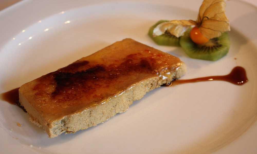 Foie Caramelizado con Mistela restaurante salamar  madrid