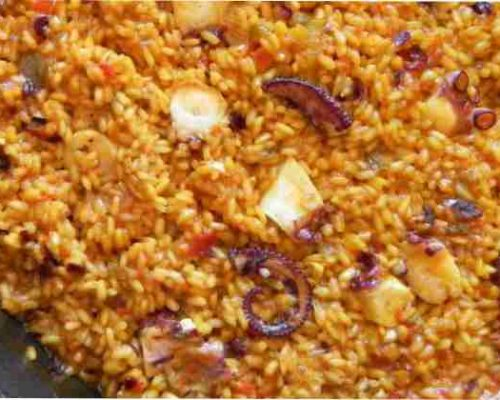 200925 paella de pulpo con calamares restaurantesalamar.es com 600