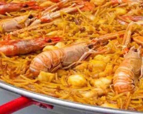 paellas, arrocess raciones y marisco para llevar fideua de marisco para dos o tres personas desde 30€ restaurantesalamar.es com 600