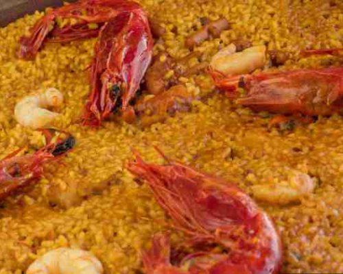paellas, arrocess raciones y marisco para llevar paella o arroz con carabineros restaurantesalamar.es com 600